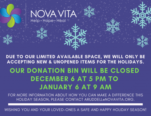 Donation Bin Closed Dec 6 to Jan 6